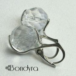 kolczyki,srebro,górski kryształ - Kolczyki - Biżuteria
