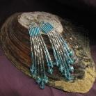 Kolczyki długie srebrzyste kolczyki