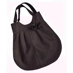 torba,worek,zamsz,szary,A4 - Na ramię - Torebki