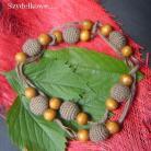 Naszyjniki etniczne,długie koraleb,brązowe,letnie