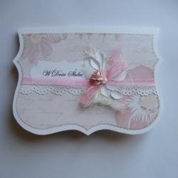 kartka na ślub,róża,ślub,romantycznie - Kartki okolicznościowe - Akcesoria