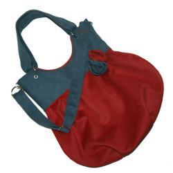torba,worek,czerwony,szary,A4,alcantara - Na ramię - Torebki