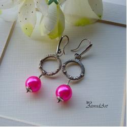 kolczyki,srebro,perły jablonex - Kolczyki - Biżuteria