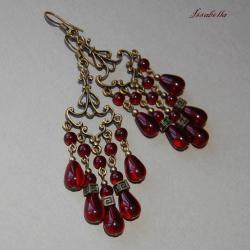 długie kolczyki,kandelabry,romantyczne,kobiece - Kolczyki - Biżuteria