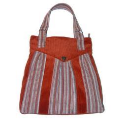 wielka ruda torebka,pojemna,wyrazista,charakterna - Na ramię - Torebki