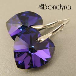 kolczyki,srebrne,romantyczne,kobiece,serca - Kolczyki - Biżuteria