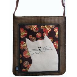 torba,a4,kot,brązowy,sztruks,parasolka - Na ramię - Torebki