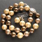 Komplety komplet,perły,srebro,seashell,kolczyki,naszyjnik
