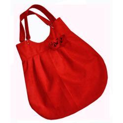 torba,worek,zamsz,czerwony,A4 - Na ramię - Torebki