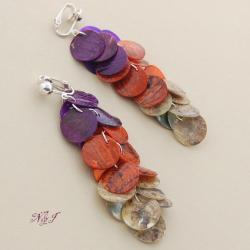 długie,kolorowe,odważne,przykuwające uwagę - Klipsy - Biżuteria
