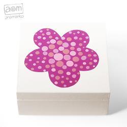 pudełko,szkatułka,kwiat,kwiatek,anamarko - Pudełka - Wyposażenie wnętrz