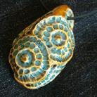 Wisiory wisior,faktura,ceramika,błękit