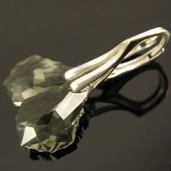 kolczyki,srebro,swarovski,lśniące - Kolczyki - Biżuteria