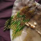 Kolczyki letnie zielone kolczyki
