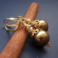 perła w złocie - Kolczyki - Biżuteria
