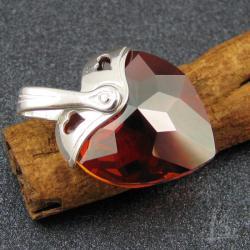 Swarovski,serce,eleganckie - Wisiory - Biżuteria