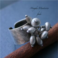 srebro,oksydowany pierścionek, - Pierścionki - Biżuteria