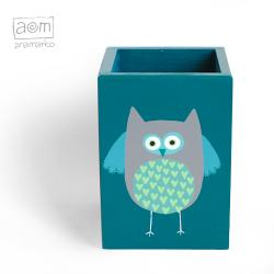 anamarko,pudełko,przybornik,sowa - Pudełka - Wyposażenie wnętrz