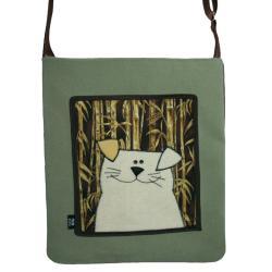 torba,a4,pies,bambus,zielony, - Na ramię - Torebki