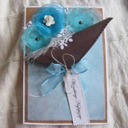 kartka,życzenia,kwiatki, - Kartki okolicznościowe - Akcesoria