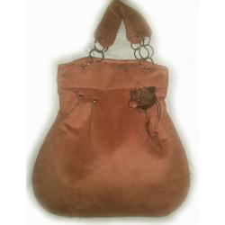 duża torba,eko-zamsz - Na ramię - Torebki