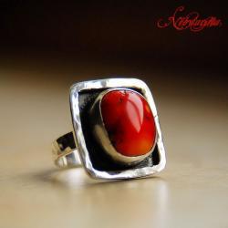 srebrny pierścionek,z fakturą,ciekawy - Pierścionki - Biżuteria
