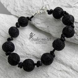 bransoleta,unisex,czarna - Bransoletki - Biżuteria