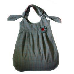 torba w kartkę,worek,krata,duża,do szkoły - Chusteczniki - Wyposażenie wnętrz