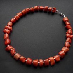 elegancki naszyjnik z koralem - Naszyjniki - Biżuteria