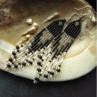 Kolczyki długie eleganckie plecione kolczyki