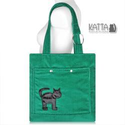 kocia torba,kot,zielona torba - Na ramię - Torebki