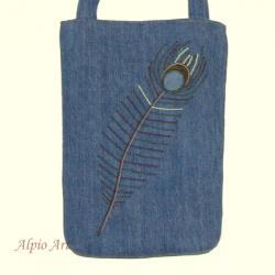 niepowtarzalna torebka,haftowana,pawie pióro - Na ramię - Torebki