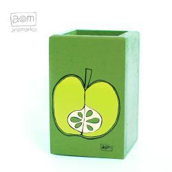 długopiśnik,przybornik,pudełko,anamarko,jabłko - Pudełka - Wyposażenie wnętrz