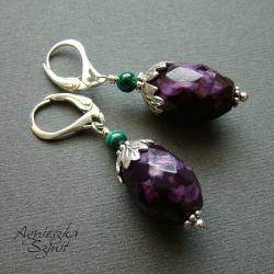 kolczyki z sugilitami - Kolczyki - Biżuteria