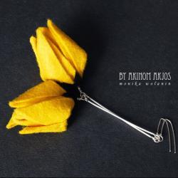 oryginalne,lekkie,kwiaty,tulipany,kobiece,ekskluzy - Kolczyki - Biżuteria