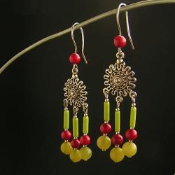 kolczyki indianskie,etniczne - Kolczyki - Biżuteria