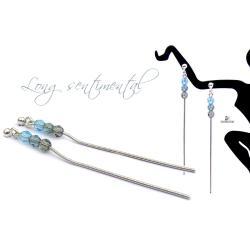 kolczyki z kryształami Swarovskiego,delikatne - Kolczyki - Biżuteria