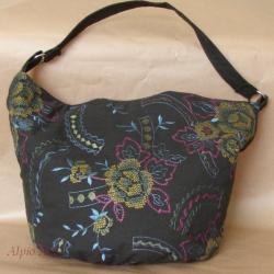 torebka,torebka worek,kwiaty,haft,młodzieżowa, - Na ramię - Torebki