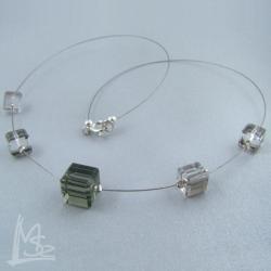 kostki,delikatny,minimalistyczny naszyjnik - Naszyjniki - Biżuteria