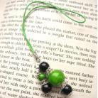 Zakładki do książek zielono-czarna zakładka