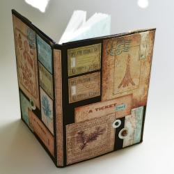 kalendarz,notes,wieża Eiffla,patchwork - Notesy - Akcesoria