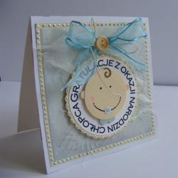 chłopiec,życzenia,narodziny - Kartki okolicznościowe - Akcesoria