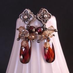 w stylu retro,romantyczne,kobiece kolczyki - Kolczyki - Biżuteria