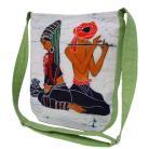 Na ramię orientalna torba,listonoszka,malowidło.oryginalna