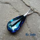 Wisiory Wisior z kryształem Swarovski,bermuda blue