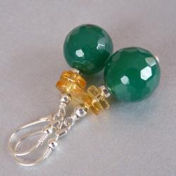 kolczyki z agatem - Kolczyki - Biżuteria