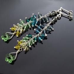 kolczyki z kwiatem,kolczyki ze swarovskim - Kolczyki - Biżuteria