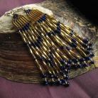 Kolczyki długie błyszczące złote kolczyki