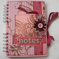 notes,tag,różowy,na prezent - Notesy - Akcesoria