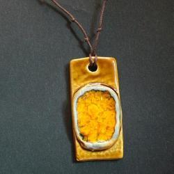 wisior,ceramika,żółty - Wisiory - Biżuteria